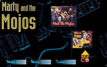 Marty and the Mojos web site by stdam design
